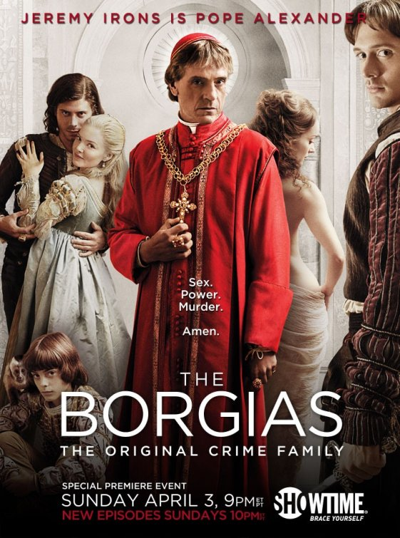 the borgais promo poster jeremy irons showtime crime family original series rare