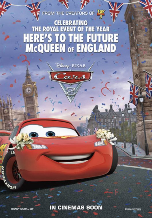disney lightning mcqueen cars 2 cars two rare united kingdom promo poster hot rare red sports car frat rare promo walt disney pixar