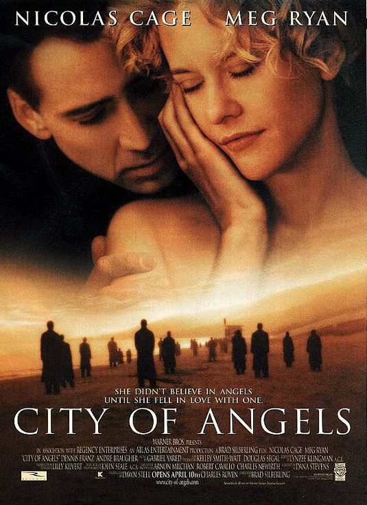 meg ryan signed autograph nicholas cage one sheet movie poster city of angels rare alanis uninvited warner bros