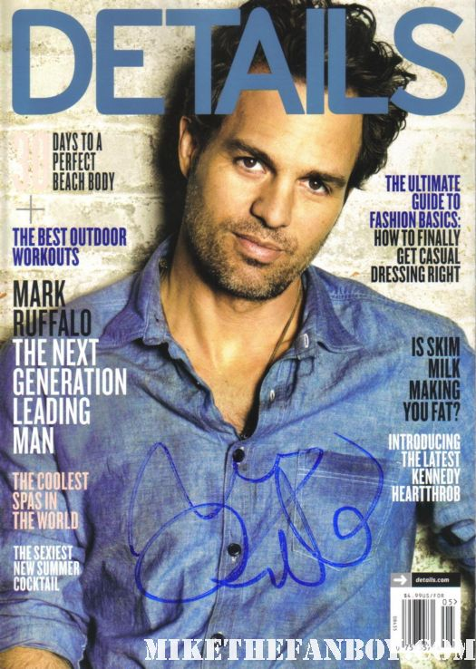 mark ruffalo signed details magazine promo the kids are alright may 2011 hot sexy magazine cover rare autographed
