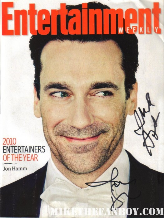 entertainment weekly sexy hot magazine cover jon hamm judd apatow rare signed autograph rare