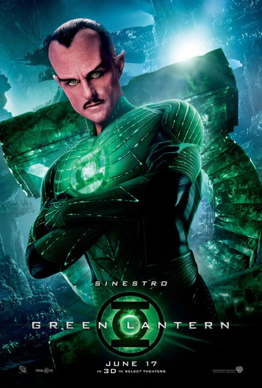sinestro mark strong green lantern individual promo mini poster sherlock holmes rare one sheet poster hot rare
