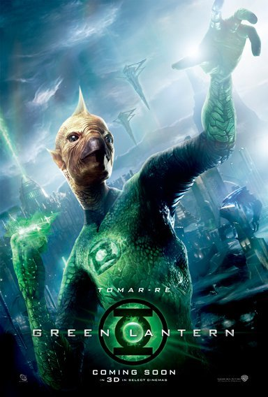 tomar-re tomar re green lantern one sheet movie poster individual rare promo hot cg lanterns geofrey rush