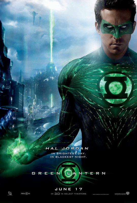 ryan reynolds green lantern rare one sheet movie poster teaser blake lively mark strong promo hot sexy warner bros dc
