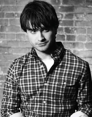 daniel radcliffe sexy hot rare gotham magazine signed may 2011 photo shoot black and white harry potter rare photo promo deathly hallows flannel rugged chest