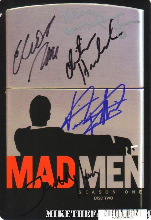 mad men cast signed promo poster jon hamm christina hendricks promo elizabeth moss jared harris rare promo hot