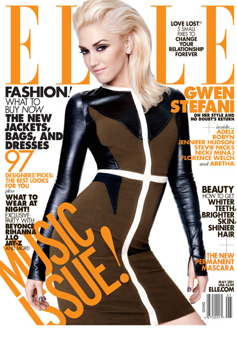 elle magazine may 2011 women in music gwen stefani florence and the machine hot sexy rare adele no doubt girlfriend