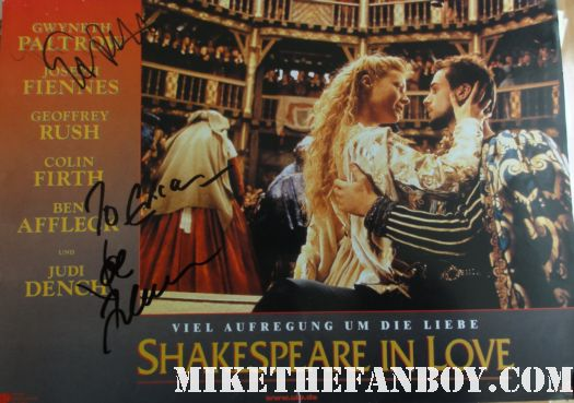 Gwyneth Paltrow Signed autograph rare shakespeare in love lobby card promo rare view from the top hot sexy damn fine rare talented mr ripley