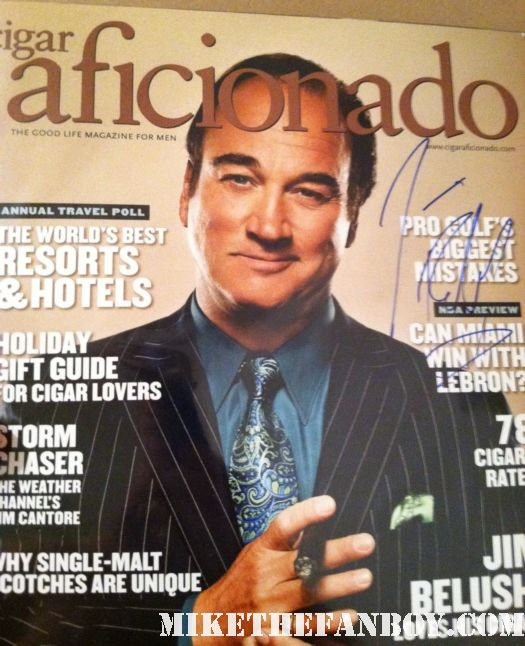 jim belushi cigar affionado magazine signed autograph k-9 according to jim rare hand awesome