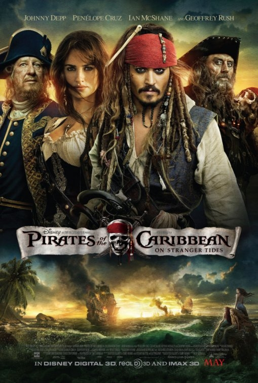 pirates of the caribbean on stranger tides one sheet movie poster rare promo johnny depp penelope cruz rare signed sexy hot