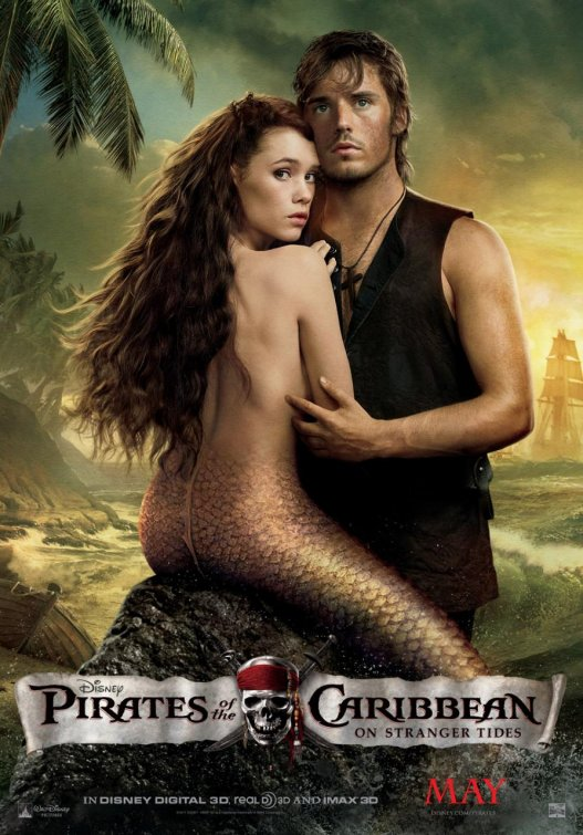 strid Berges-Frisbey Sam Claflin pirates of the caribbean on stranger tides Mermaid individual mini poster hot sexy fine shirtless