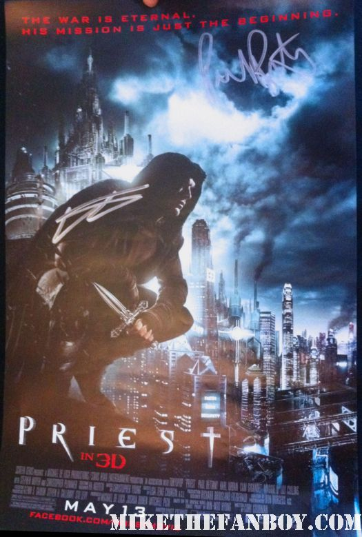 priest 3d mini poster rare scott stewart paul bettany promo hot underworld rare mini poster signed autograph new york city