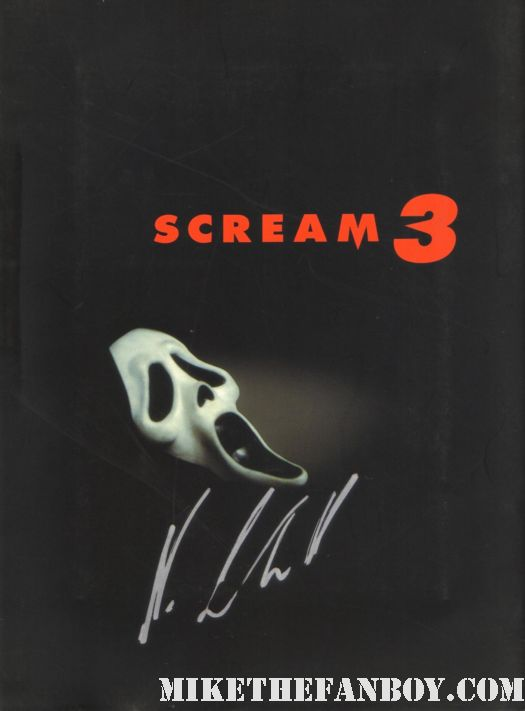 scream 3 japanese presskit press kit neve campbell signed autograph rare sidney prescott
