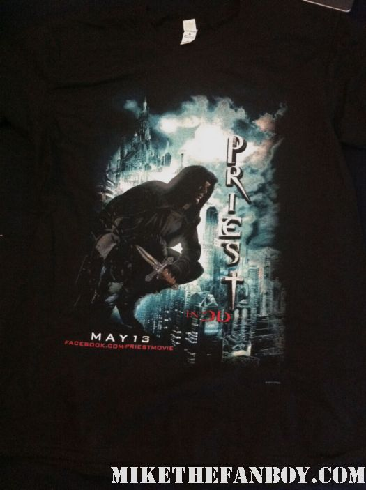 priest 3d rare promo shirt paul bettany scott stewart hot rare promo rare black shirt underworld