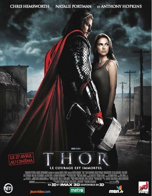 thor one sheet movie poster chris hemsworth hot muscle workout fine bicep natalie portman sexy photoshoot rare hammer cape tricep abs damn