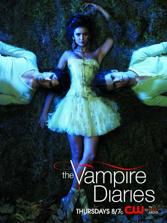 the vampire diaries nina dobrev ian somerhalder paul wesley hot sexy promo poster rare blood sucking damn hot fine photoshoot