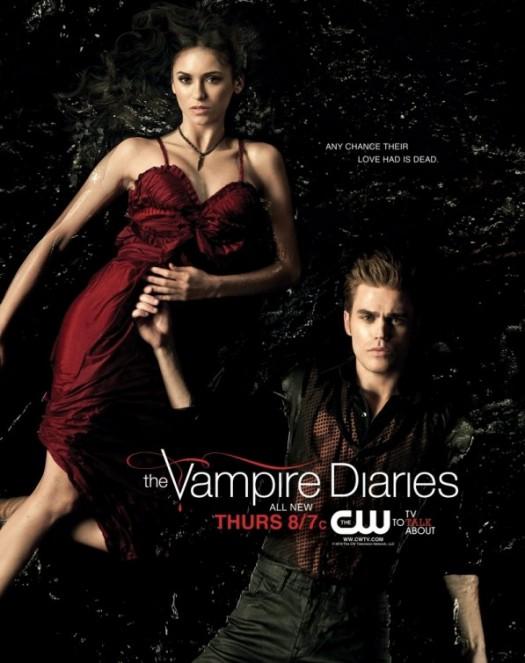 the vampire diaries rare promo mini poster ian somerhalder paul wesley duo hot sexy promo poster mini The CW rare hot sexy skin blood