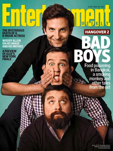 entertainment weekly hangover II 2 magazine cover rare Bradley Cooper, Ed Helms, and Zach Galifianakis sexy hot rare wolfpack promo rare