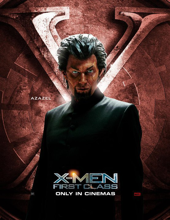 Jason Flemyng  in the new X-men first class individual promo poster Jason Flemyng  rare  sexy promo poster x men first class individual character poster azazel