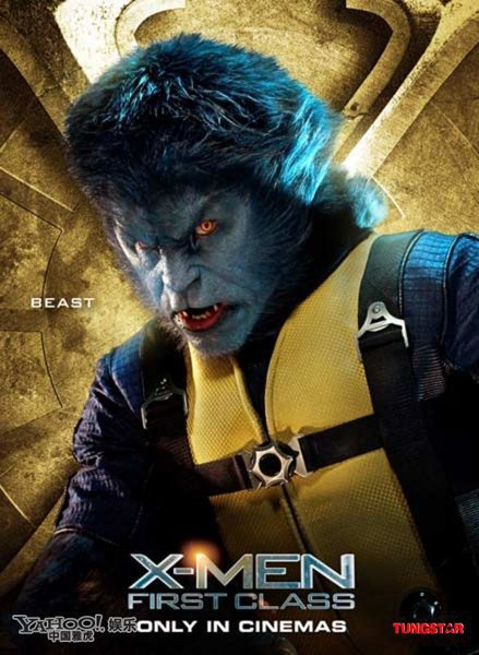Nicholas Hoult as hank mccoy beast in x men first class new one sheet movie poster individual promo character poster promo hot sexy rare about a boy skins sexy hot rare promo poster fine