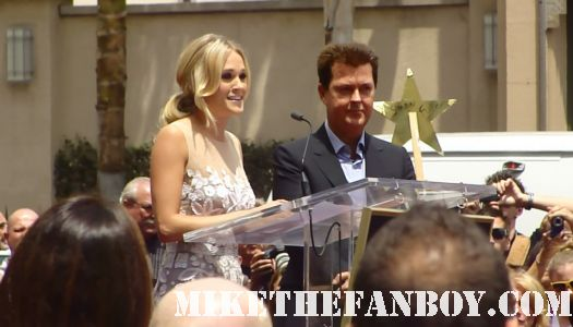 carrie underwood signed autograph simon fuller's walk of fame star ceremony promo play on jesus take the wheel hot sexy country star promo