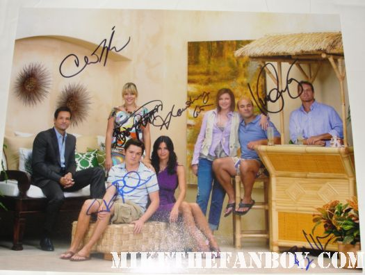 cougar town signed autograph season 1 one cast signed promo photo courteney cox busy phillips rare dan byrd bill lawrence hot sexy
