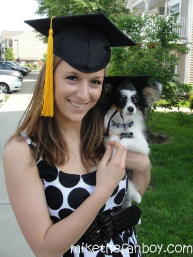 becka rose sametz dexter the dog class of 2011 graduation ceremony university of kentucky uk wildcats