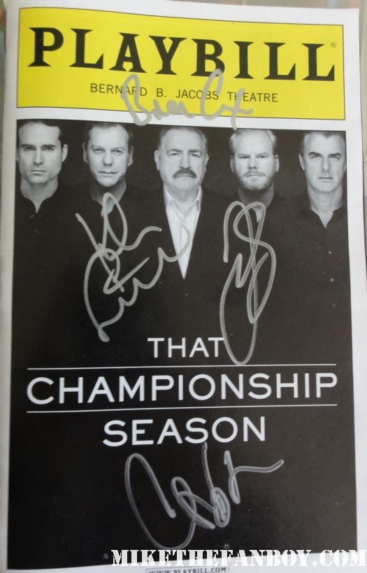 that championship season rare signed autograph playbill hot jason patric keifer sutherland brian cox