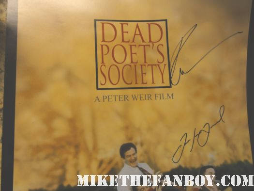 dead poet's society robert sean leonard robin williams signed autograph promo mini poster hot rare
