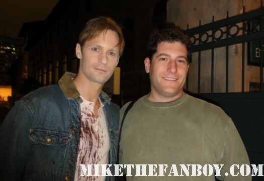 eric northman alexander skarsgard mike the fanboy fan photo true blood season 4 on location set visit rare signed autograph hot sexy vampire rare mike sametz