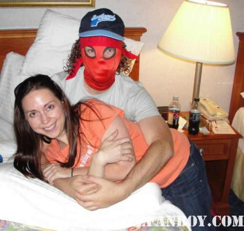 Mike The Fanboys the novel strumpet after a long hard day at san diego comic con 2011 spider man mask novels books rare