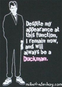 ducky dale pretty in pink quote cartoon duckie duckman rare jon cryer john hughes hot rare cartoon prom suit prom dress