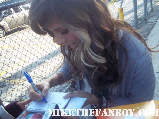 Christina Perri signed autograph rare promo hot sexy photo promo poster singer photo shoot jimmy kimmel rare hot hair index card
