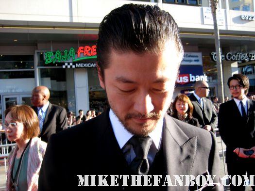 Tadanobu Asano  hogun signed autograph thor los angeles premiere rare asian star norse god promo poster hot fine signature
