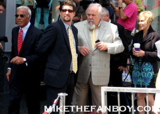 George Schlatter and Jolene Schlatter at jane morgans walk of fame ceremony on hollywood blvd. rare signed autograph promo
