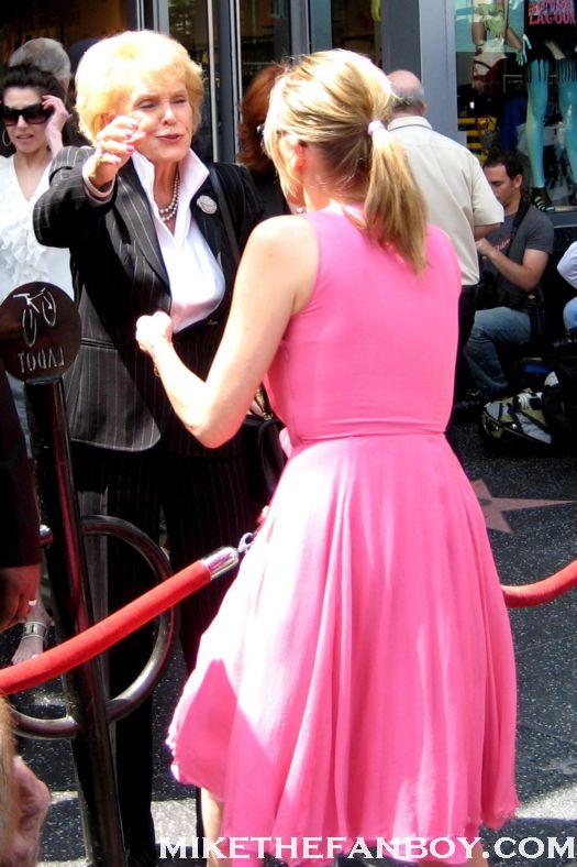 jane morgan and sharon stone hug at jane morgans walk of fame ceremony on hollywood blvd rare promo hot sexy total recall basic instinct