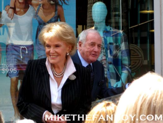 jane morgan and jerry weintrabu at jane morgans walk of fame star ceremony rare promo hot legend