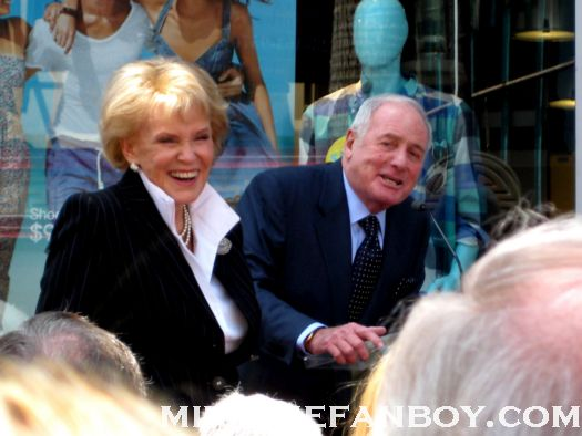 jane morgan and jerry wientraub troop beverly hills at jane morgans walk of fame star ceremony