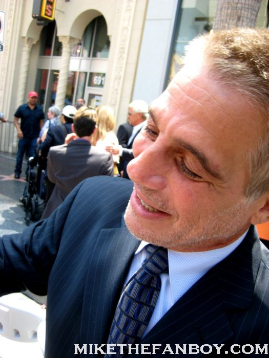 tony danza who's the boss stops to sign autographs at jane morgans walk of fame star ceremony rare promo