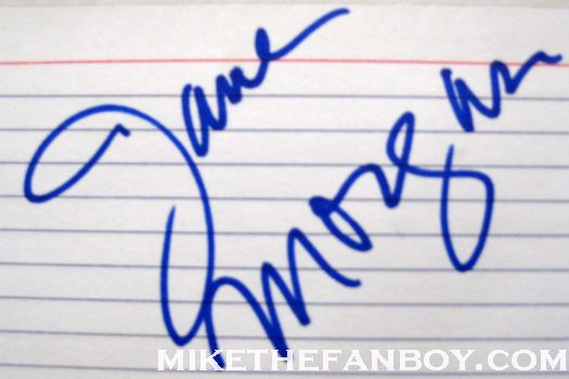 jane morgan signed autograph index card from jane morgan's walk of fame ceremony rare promo signature
