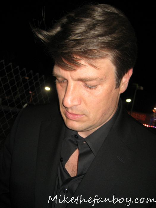 nathanfillion sexy hot rare firefly fan photo signed autograph photo figure serenity ornament promo waitress castle talk show taping hot shirtless sexy buffy the vampire slayer joss whedon dr. horrible castle
