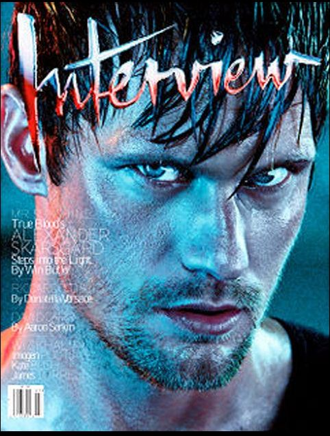 Alexander Skarsgard interview magazine june 2011 rare sexy magazine cover hot sexy rare promo shirtless stubble wet promo damn fine true blood eric northman true blood season 4 fine hot penetrating