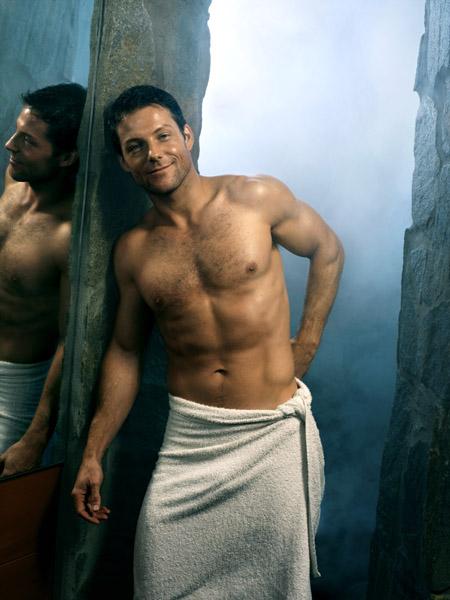 jamie bamber shirtless sexy hot naked battlestar galactica rare promo hot sexy lee apolo adama