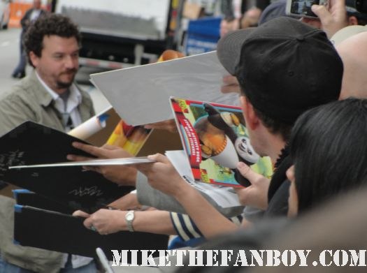 danny mcbride from eastbound and down and pineapple express signing autographs at the kung fu panda 2 premiere in hollywood rare promo