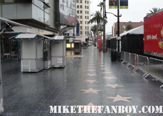 the hollywood and highland center in los angeles in the early morning oscars no one around empty rare red carpet kung fu panda 2 premiere