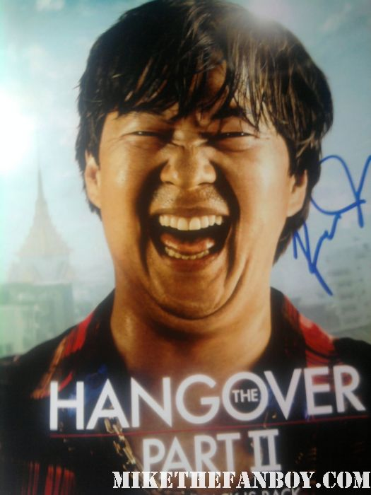 Ken Jeong the hangover signed autograph fans role models rare promo hot sex mini poster hangover II rare mr. chow community chevy chase rare promo individual promo mini poster rare mr. chow hangover II signed autograph promo