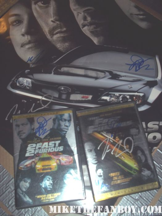 paul walker signed autograph dvd 2fast2furious fast five fast and furious rare promo mini poster the skulls pleasantville rare hot sexy rare damn fine gorgeious photo shoot abs bicep