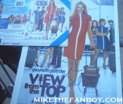a view from the top signed autograph rob lowe promo poster mark ruffalo hot promo rare paltrow nice promo about last night...