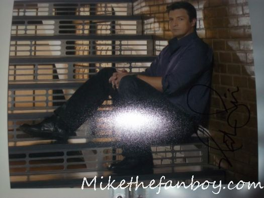 nathan fillion signed autograph photo sexy hot castle buffy the vampire slayer promo castle serenity firefly captain mal malcolm reynolds shirtless geek god rare desperate housewives promo waitress rare sex on a stick