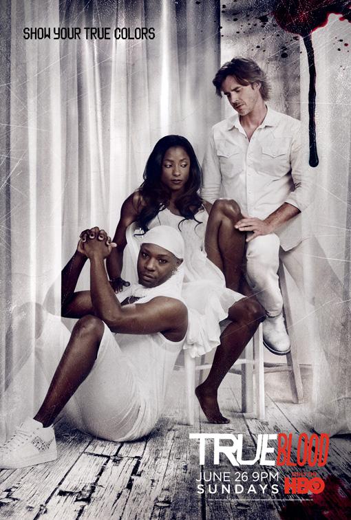 true blood season 4 white true colors promo poster rutina wesley nelson ellis sam trammell promo poster hot sexy rare tara sam merlotte lafayette